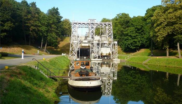 boat lifts, a UNESCO world heritage site
