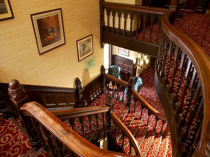 Stairs at Chesterford Grange