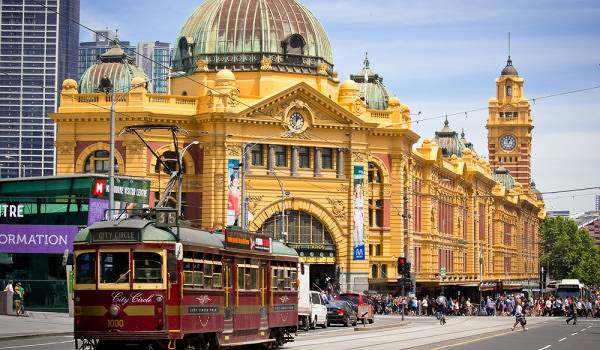 Melbourne Tram in Flinders Street