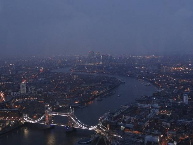 View of tower bridge from the Shard