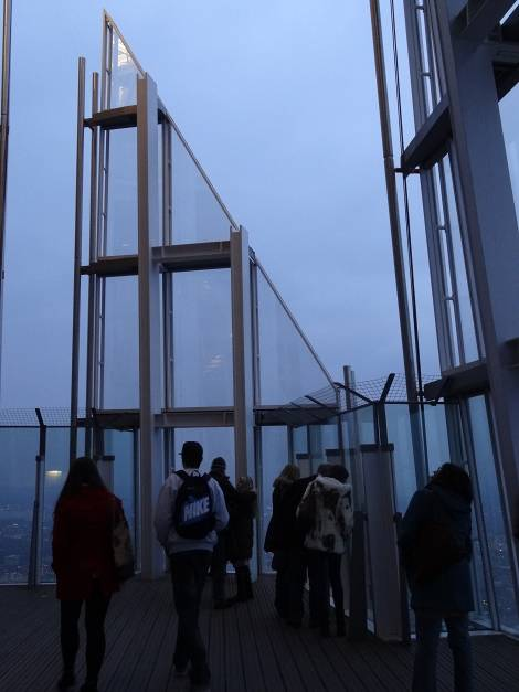 The top floor of the Shard