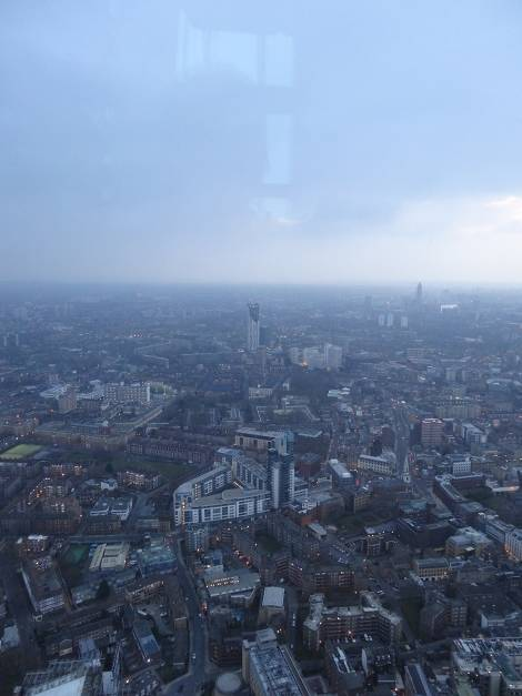 View from the Shard looking south