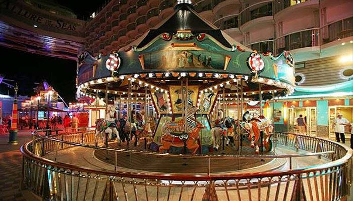 hand-carved carousel