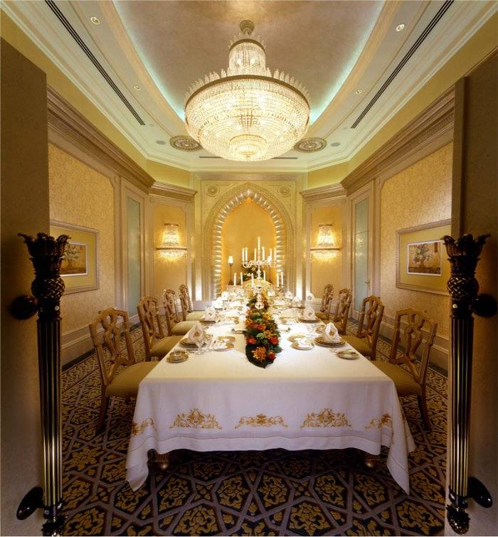chandelier and dining room