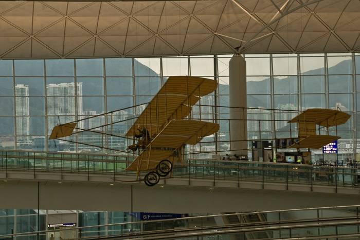 Farman Biplane Hong Kong Airport