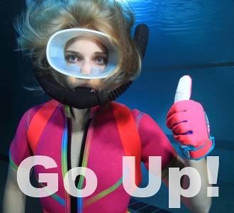 diver go up