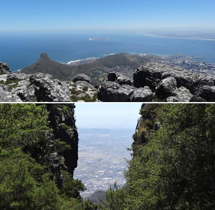 View of Cape Town and bay from Table Mountain