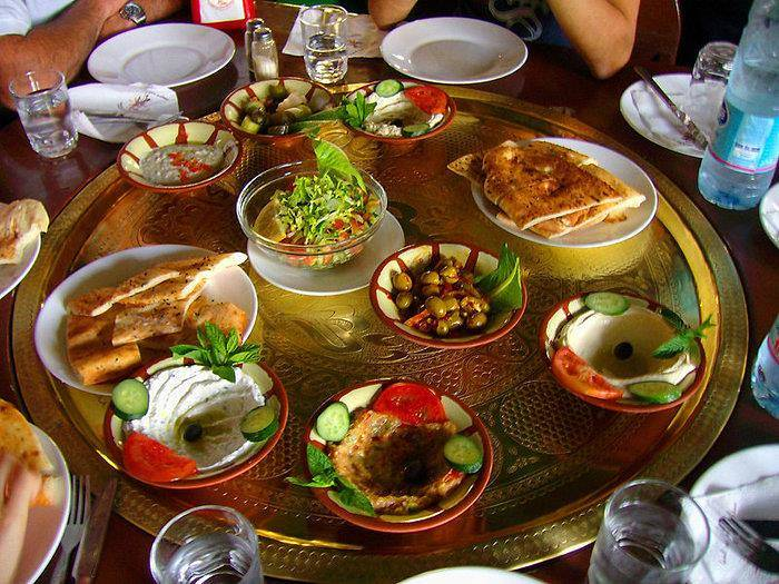 Traditional Mezze dishes