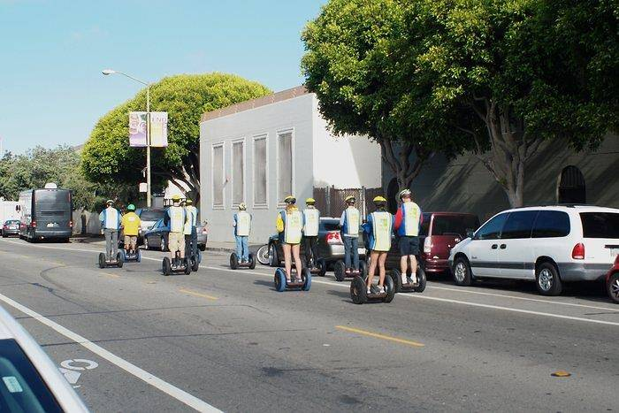 Group on a segway tour