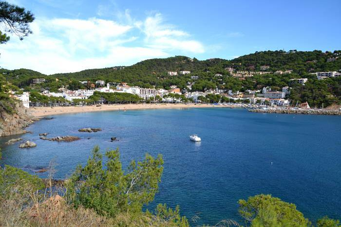 View of bay at Llafranc