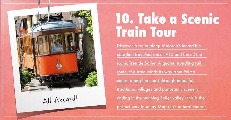 Take a scenic train tour