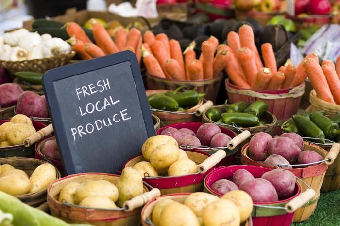 Fresh local produce at a market