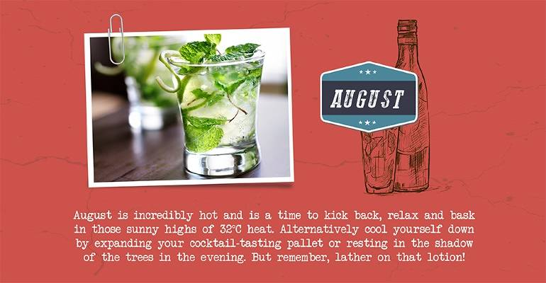 August - cocktails and soaring temperatures