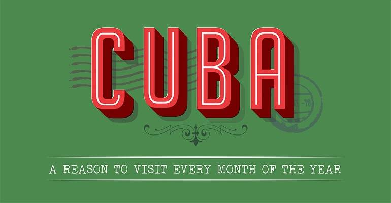 Reasons to go to Cuba infographic