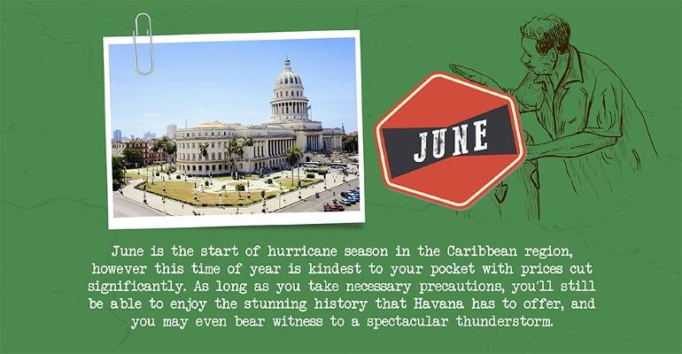 June - Most affordable
