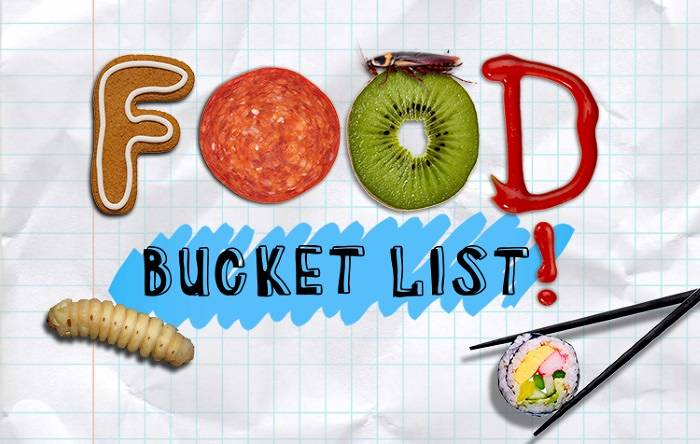 Food bucket list
