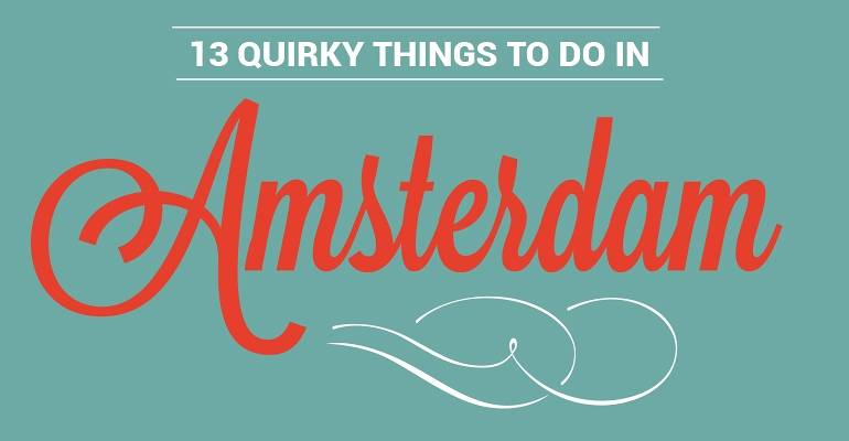 Amsterdam Quirky Attractions Graphic