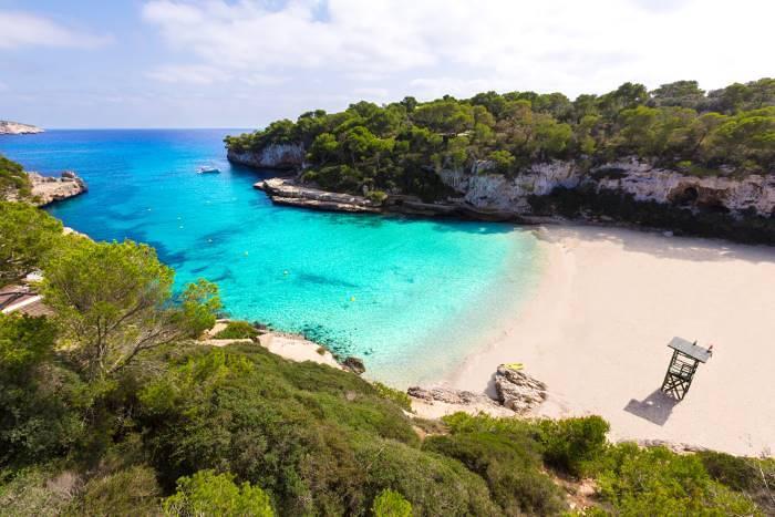 The beach at Cala Llombards
