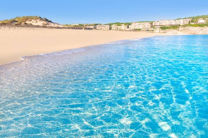 Clear blue sea at Mesquida beach