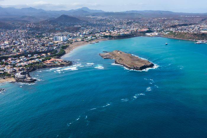 View of Praia from above