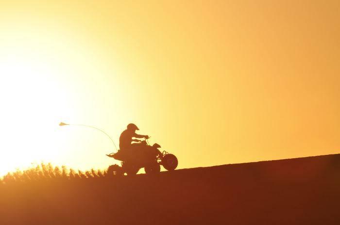 Quadbike at sunset