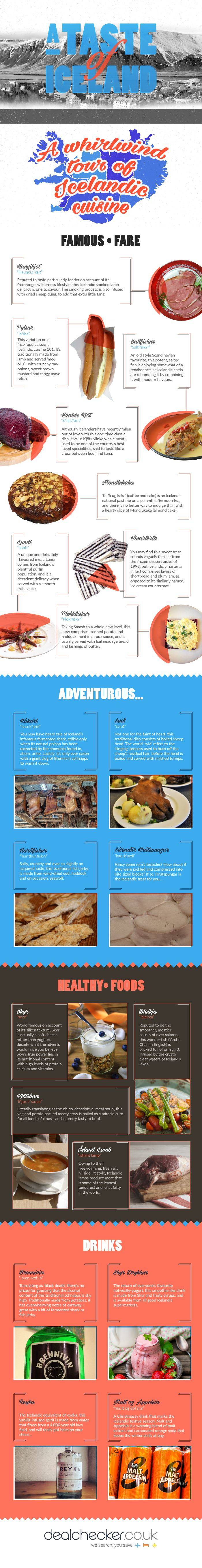A Taste of Iceland Infographic