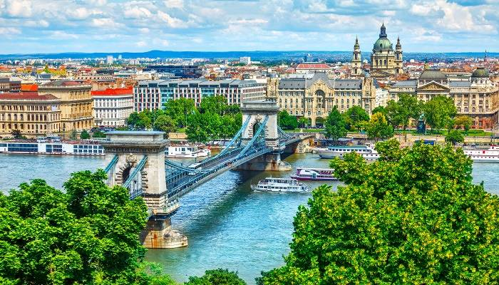 The Danube flowing through Budapest