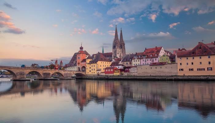 The Danube in Regensburg