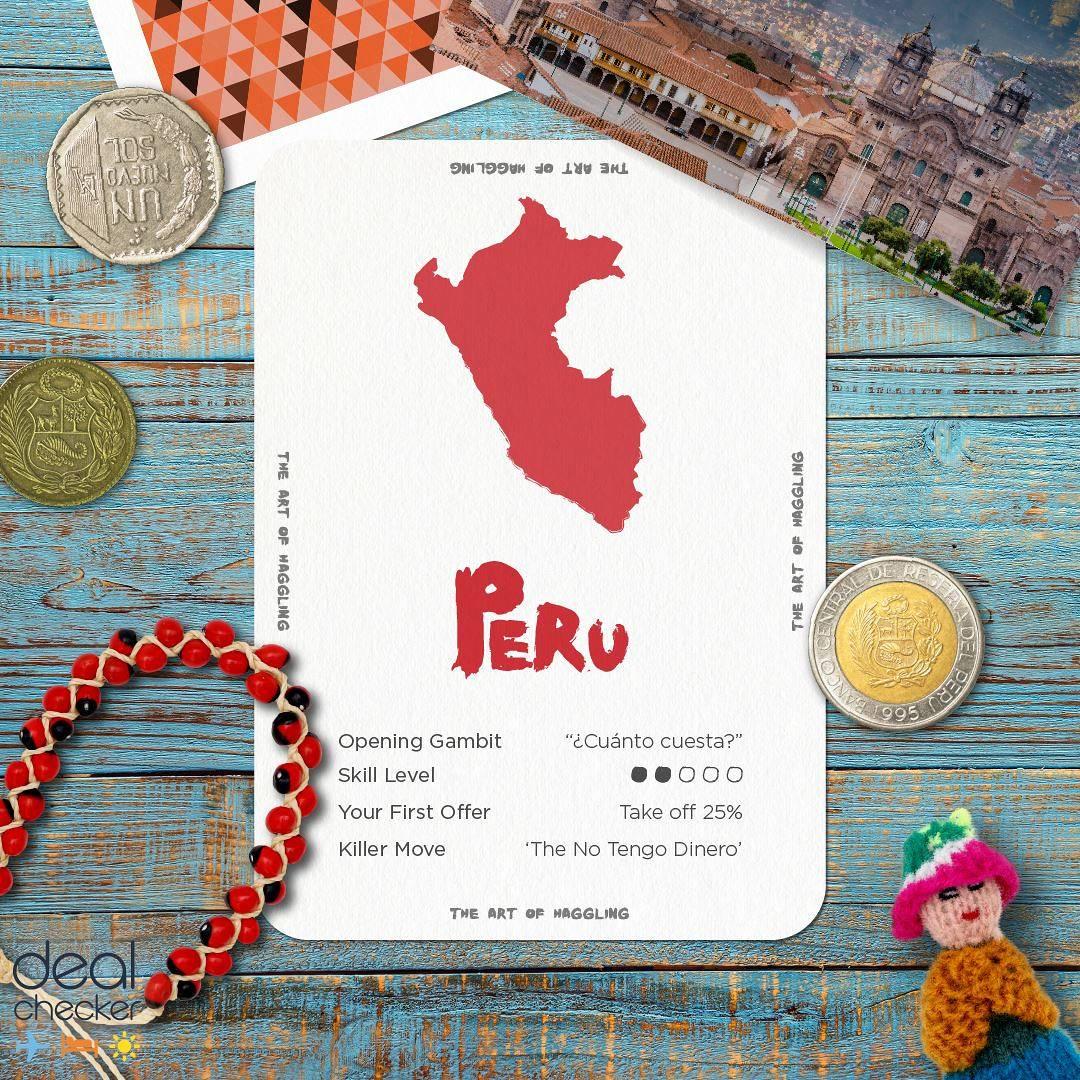 The Art of Haggling - Peru Card