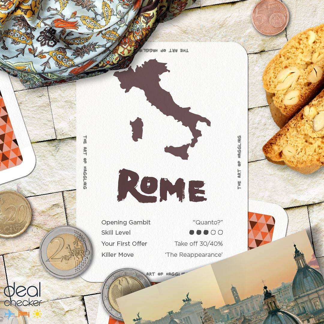 The Art of Haggling - Rome Card