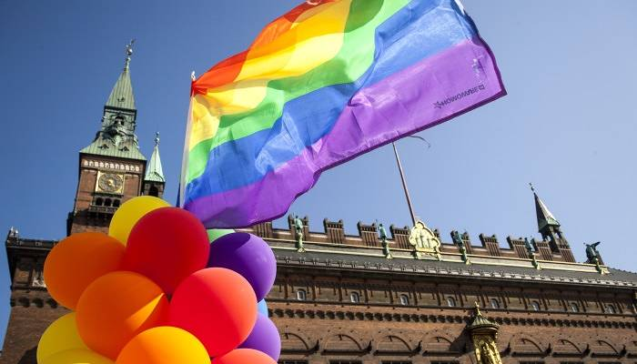 Flag flying high In Copenhagen for Pride