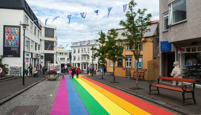 Rainbow for Pride in Reykjavik