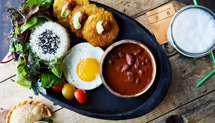Vegetarian Columbian street food in Copenhagen