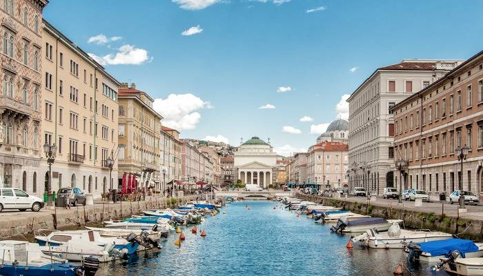 View of Trieste port