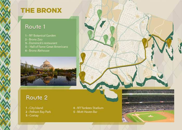 The Bronx map