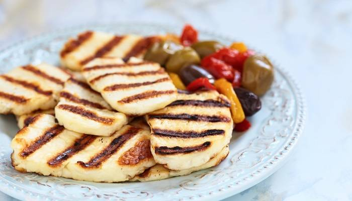 picture of grilled halloumi