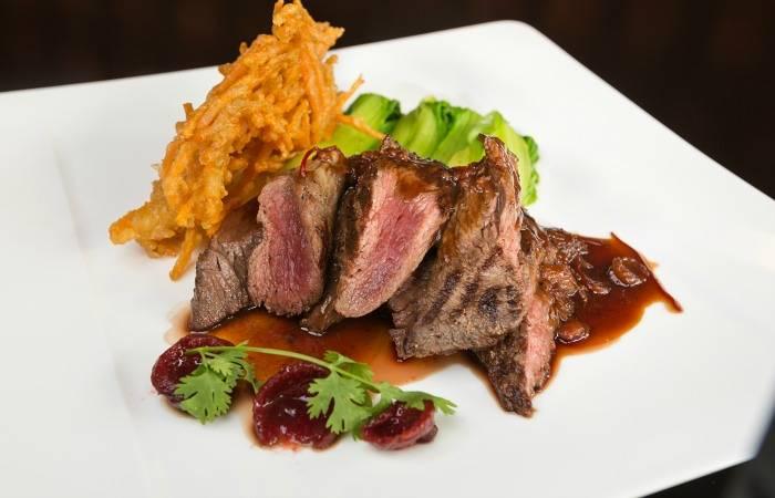 kangaroo steak dinner