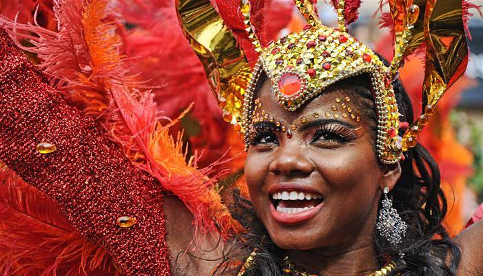picture of a female dancer at Notting Hill Carnival