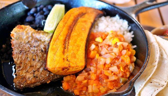 picture of a Costa Rican meal