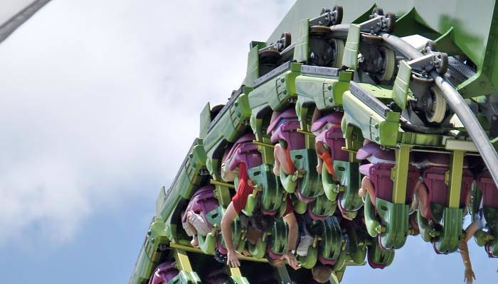 picture of people upside down on ride