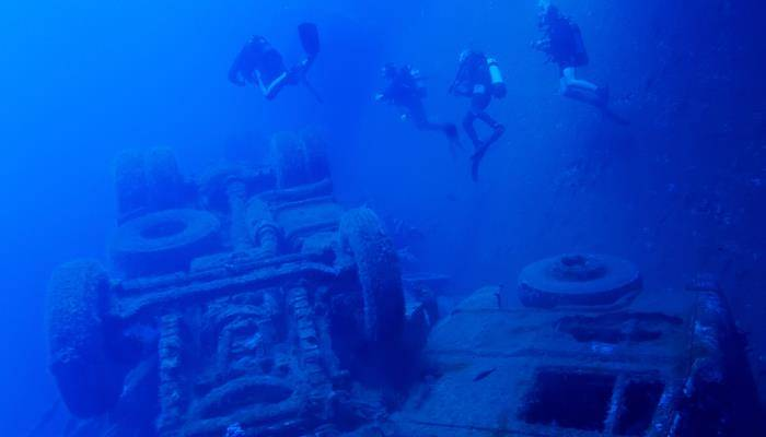 picture of the zenobia shipwreck