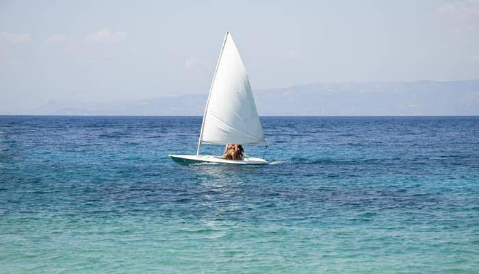 picture of a person dinghy sailing
