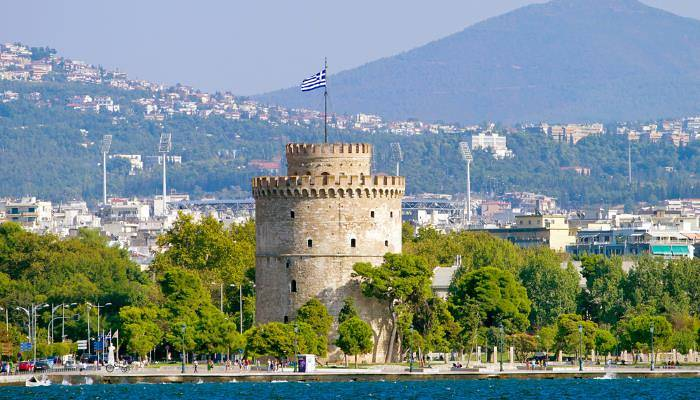 picture of a turret in Thessaloniki