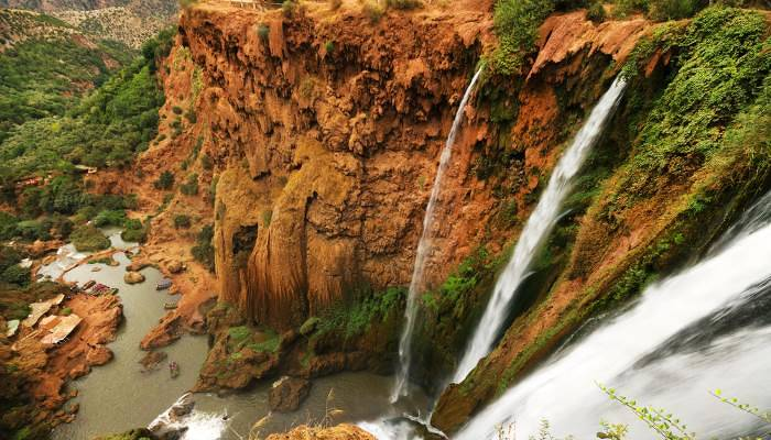 picture of waterfalls in the Atlas Mountains