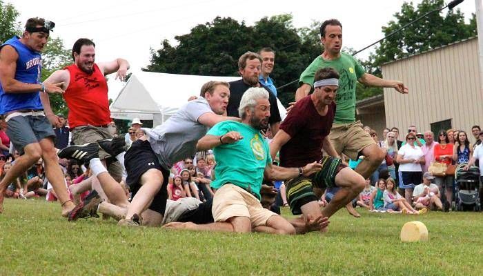 picture of cheese rolling