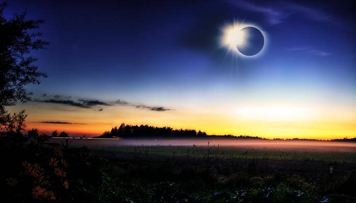 picture of a solar eclipse