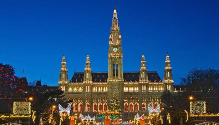 picture of vienna's christmas market