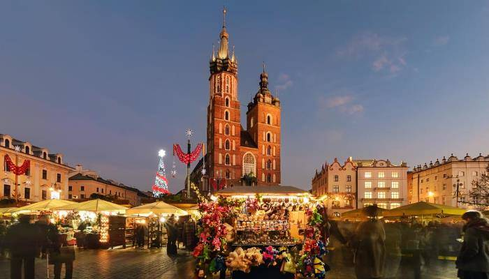 picture of krakow's christmas market