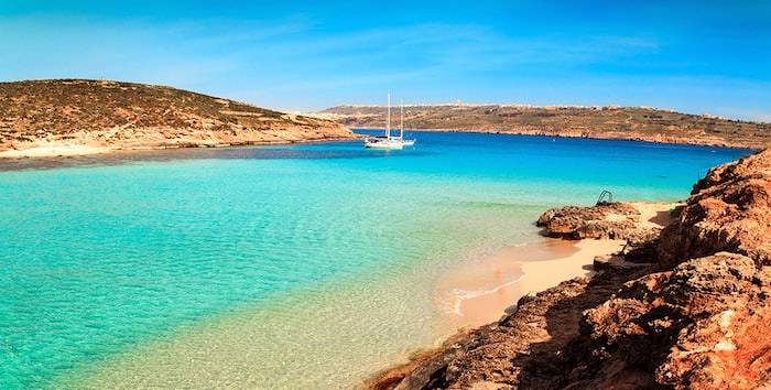 Blue lagoon on Comino